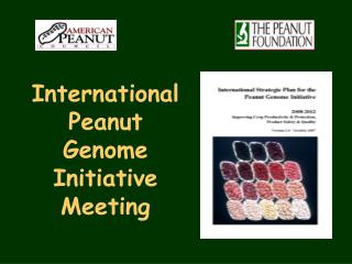 International Peanut Genome Initiative Meeting