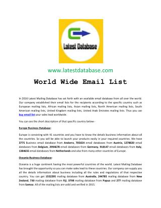 Buy Email List 2016