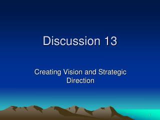Discussion 13