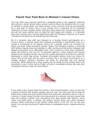 Flaunt Your Feet Best In Women's Casual Shoes
