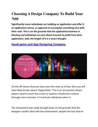 Game Development company Saudi