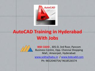 AutoCAD ETABS  STAAD Pro Primavera Training & Jobs