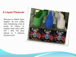 E Liquid Wholesale And Supply USA