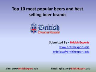 Top 10 most popular beers and best selling beer brands