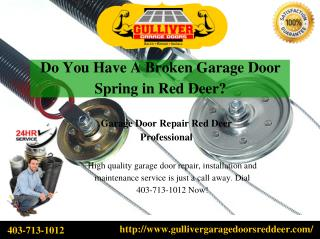 Do You Have A Broken Garage Door Spring in Red Deer