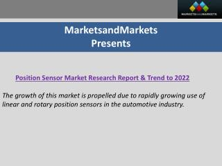 Position Sensor Market worth 5.85 Billion USD by 2022