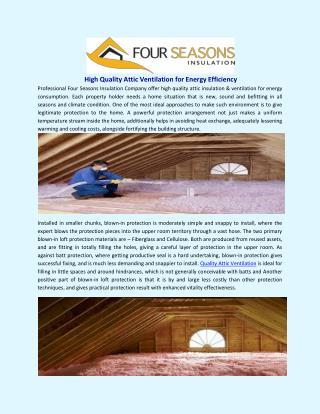 High Quality Attic Ventilation for Energy Efficiency