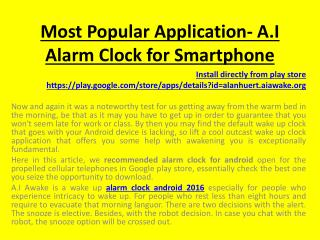 alarm clock android 2016