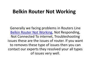 1-888-264-6472 Belkin Router Not Working