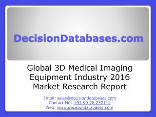 Global 3D Medical Imaging Equipment Industry Key Manufacturers Analysis 2021