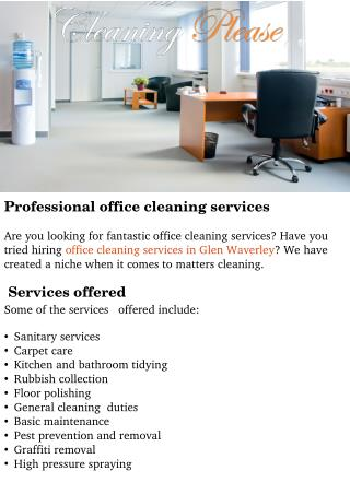 Office Cleaning Services in Glen Waverley