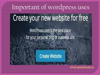wordpress & its uses