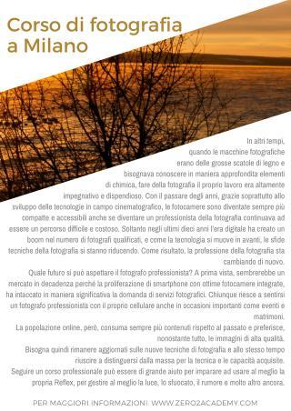 Corso Fotografia Milano