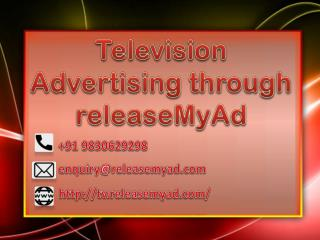 Booking online advertisement in Television through releaseMyAd