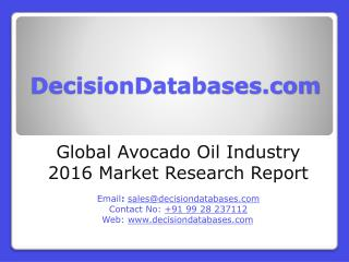 Global Avocado Oil Market 2016: Industry Trends and Analysis
