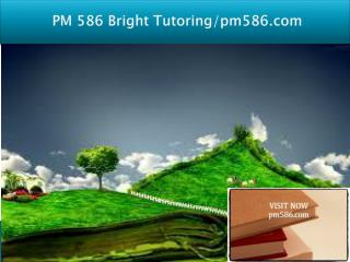 PM 586 Bright Tutoring/pm586.com
