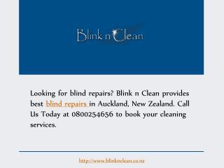 Blind Repairs - Blink n Clean