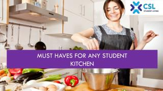 Must haves for any Student Kitchen