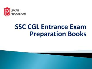 SSC CGL Entrance Exam Preparation Books