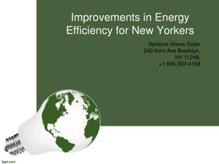 Improvements in Energy Efficiency for New Yorkers