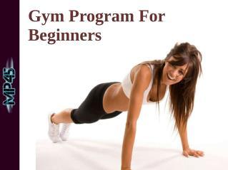 45 Day Gym Program For Beginners