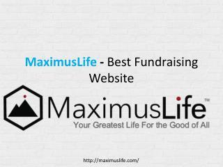MaximusLife Best Fundraising Agency