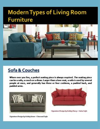 Modern Types of Living Room Furniture