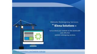 Website Redesign Services - iEkma Solutions