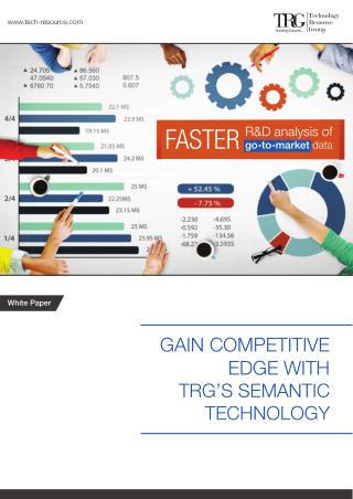 Powerful R&D Tool - TRG