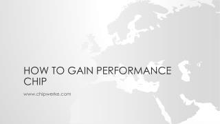 Auto Performance Chip