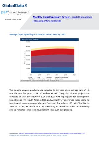 Monthly Global Upstream Review - Capital Expenditure Forecast Continues Decline