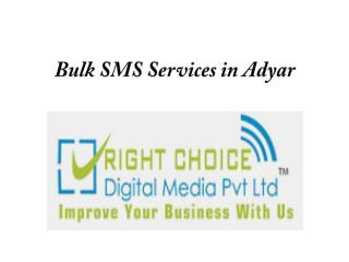 Bulk SMS Services in Adyar