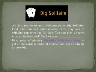 Rules Of Playing Klondike Solitaire Online