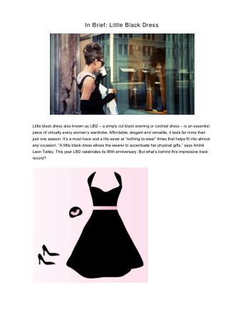In Brief: Little Black Dress