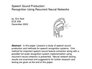 Speech Sound Production:  Recognition Using Recurrent Neural Networks