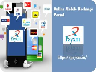 Payxm Online Recharge Process