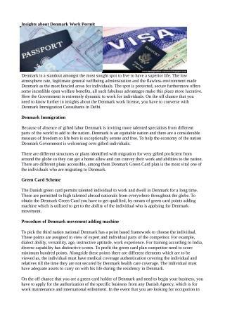 Insights about Denmark Work Permit