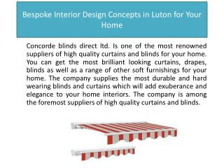 Bespoke Interior Design Concepts in Luton for Your Home