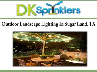 Outdoor Landscape Lighting In Sugar Land, TX