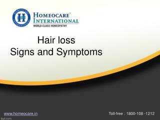 Hair loss Signs and Symptoms