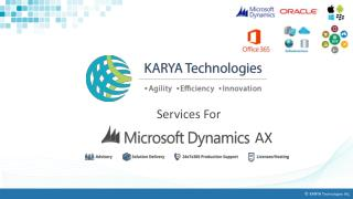 Karya Technologies Provides Microsoft Dynamics Services AX At Affordable Cost