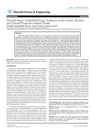 Potential Impact of Biofield Energy Treatment on the Atomic, Physical and Thermal Properties Indium Powder