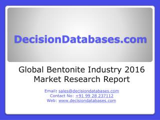 Global Bentonite Market 2016: Industry Trends and Analysis