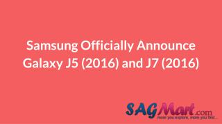Samsung officially announce galaxy j5 (2016) and j7 (2016)
