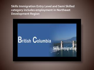 Skills Immigration Entry Level and Semi Skilled category includes employment
