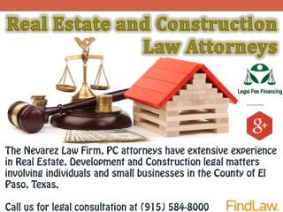 Real Estate and Construction Law Attorneys