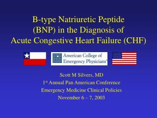 B-type Natriuretic Peptide BNP in the Diagnosis of  Acute Congestive Heart Failure CHF