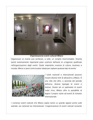 Organizzazione Eventi Culturali