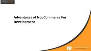 Advantages of NopCommerce Development