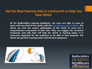 Get the Best Hearing Aids in Letchworth to Help You Hear Better